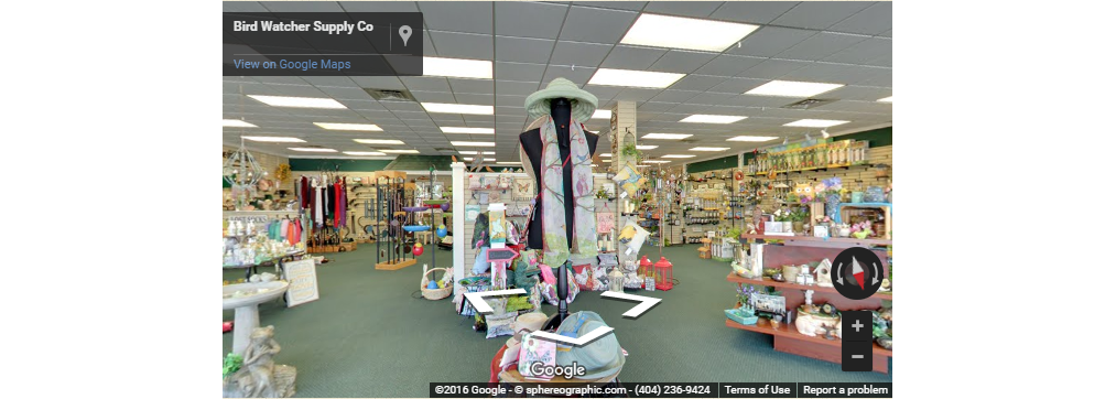Bird Watcher Supply Company Marietta store walk through Google Maps